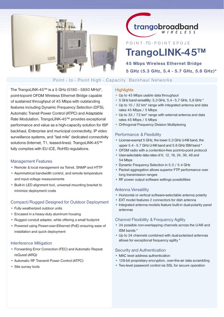 TrangoLINK-45™ | manualzz com