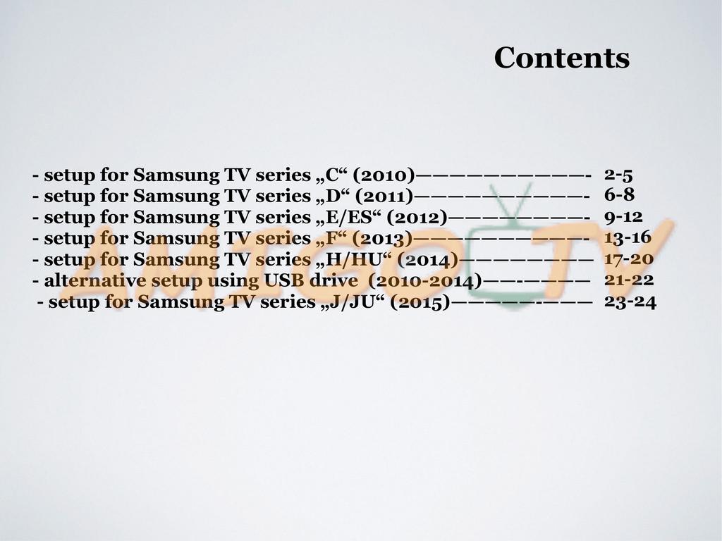 Contents - Samsung Smart TV stream widgets | manualzz com