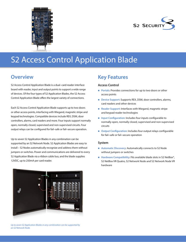 S2 Access Control Blade Wiring Diagram
