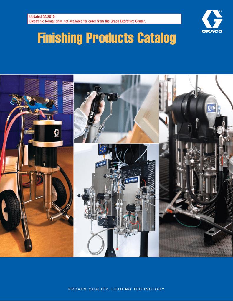 GRACO Finishing Products Catalog | manualzz com