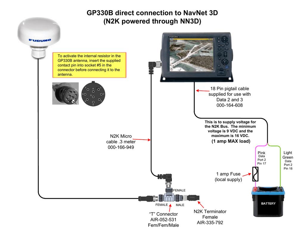 GP330B connection to NavNet 3D | manualzz.com
