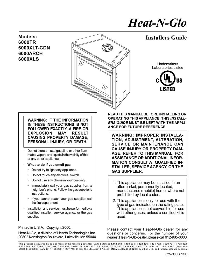 Heat-N-Glo   Manualzzmanualzz