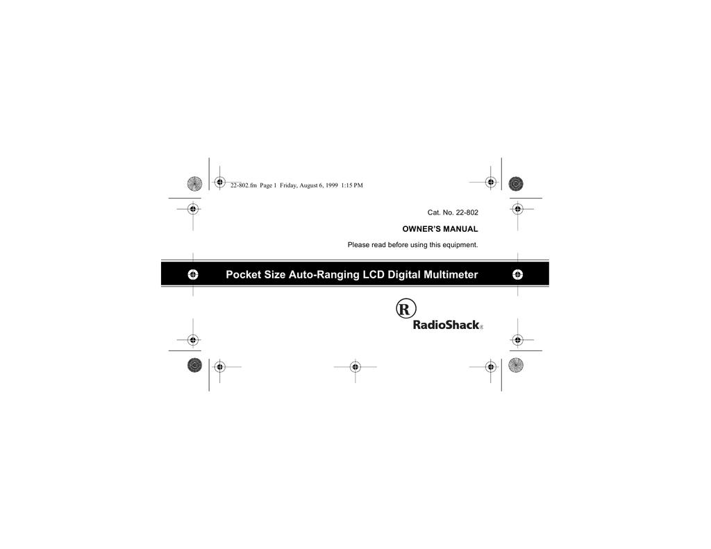 Pocket Size Auto-Ranging LCD Digital Multimeter | manualzz com
