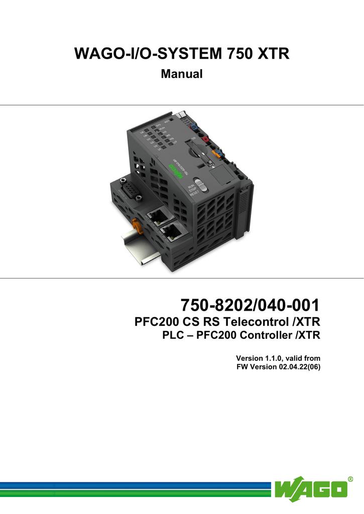 WAGO-I/O-SYSTEM 750 XTR | manualzz com