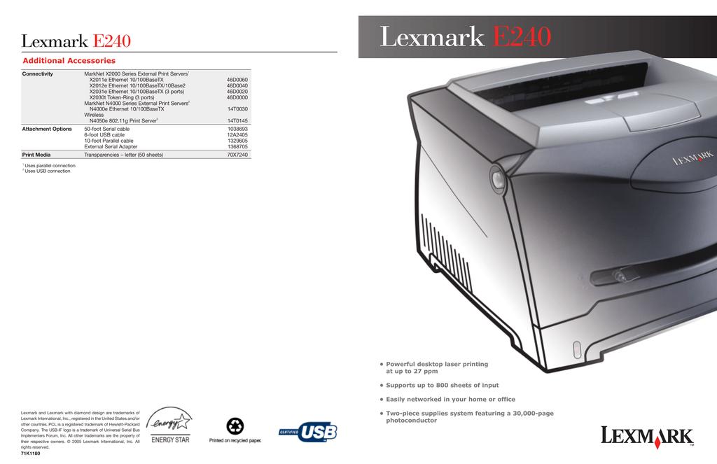 E240 LEXMARK DRIVER FOR WINDOWS DOWNLOAD