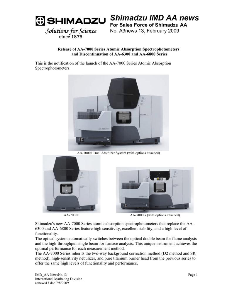 shimadzu imd aa news manualzz com rh manualzz com Flame Atomic Absorption Spectrometer Cold Vapor Atomic Absorption