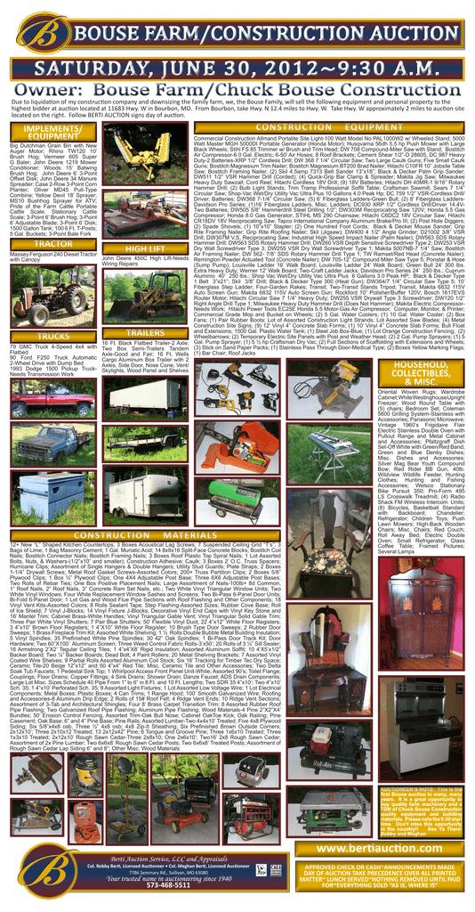 12x23 Bouse Auction - Berti Auction Service | manualzz com