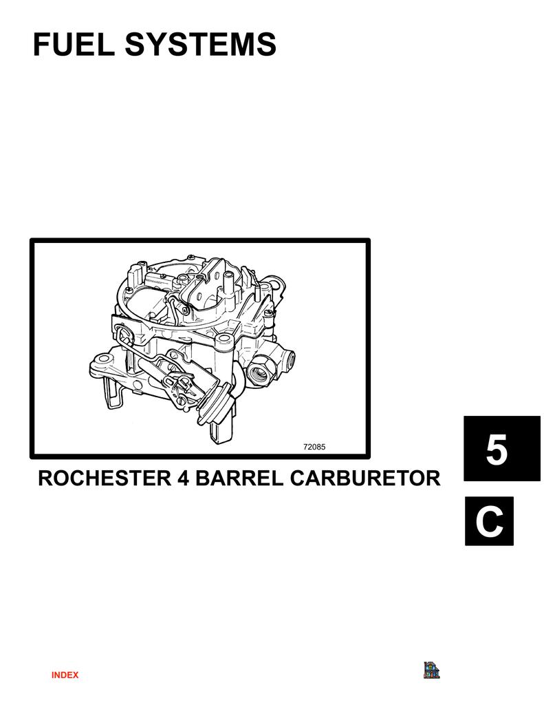Rochester 4 Barrel Carburetor Diagram