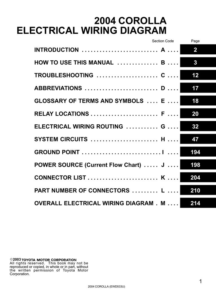 rdi refrigeration unit wiring diagrams 2004 corolla electrical wiring diagram manualzz  2004 corolla electrical wiring diagram