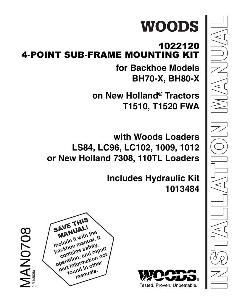 1022120 Sub-Frame Mounting Kit (BH70-X, BH80-X) | manualzz com