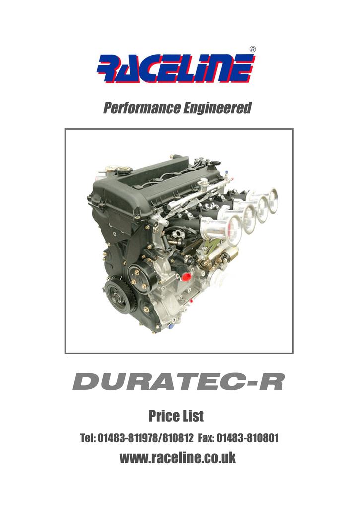 DURATEC-R - Raceline | manualzz com