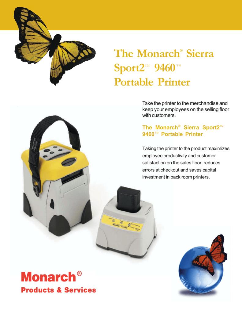 Monarch 9460 Sierra SPort-2 Portable Label Printer 9460