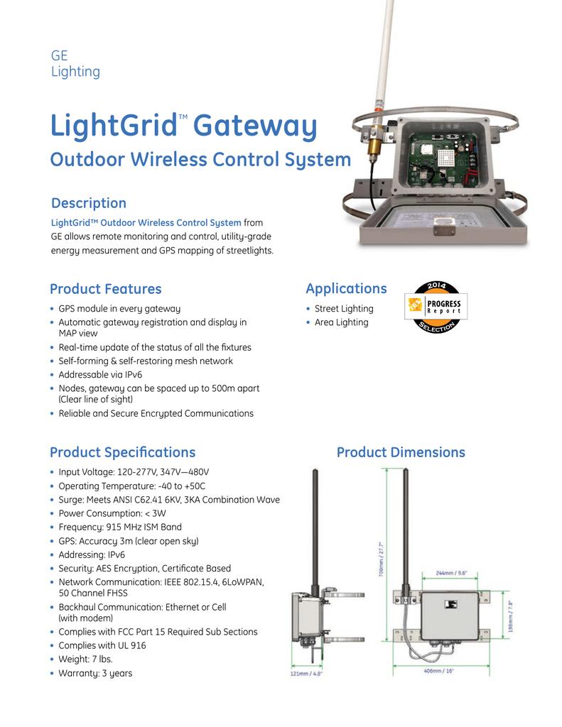 Ge Lightgrid Gateway Sheet Ctrl002 Manualzz