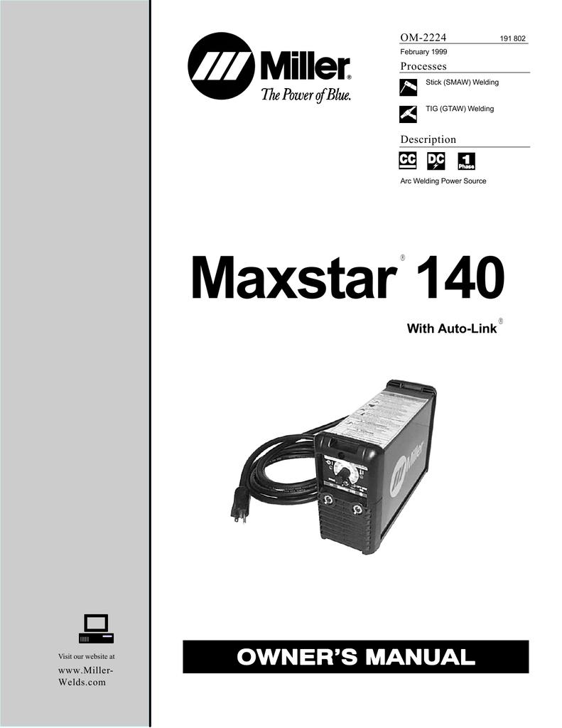 Maxstar 140 - Miller Welding | manualzz.com