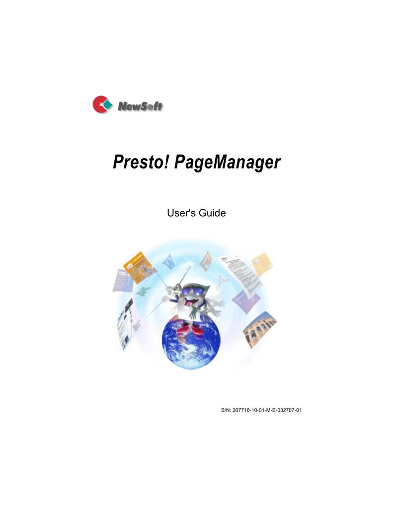 Presto Pagemanager Pdf Writer