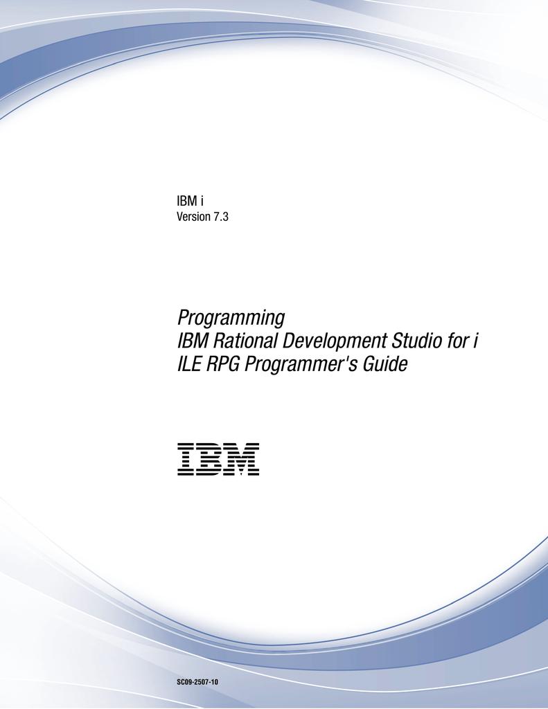 IBM i: ILE RPG Programmer`s Guide | manualzz com