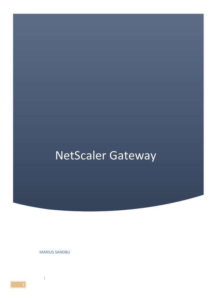 NetScaler Gateway | manualzz com