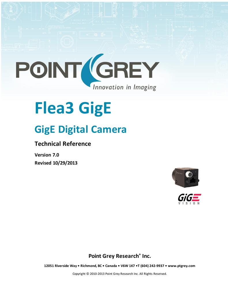 Flea3 GigE Technical Reference | manualzz com