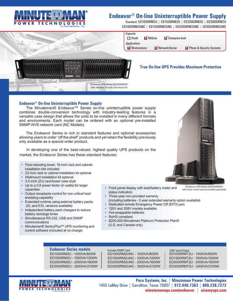 Minuteman ED1000RMT2U Battery Replacement Kit