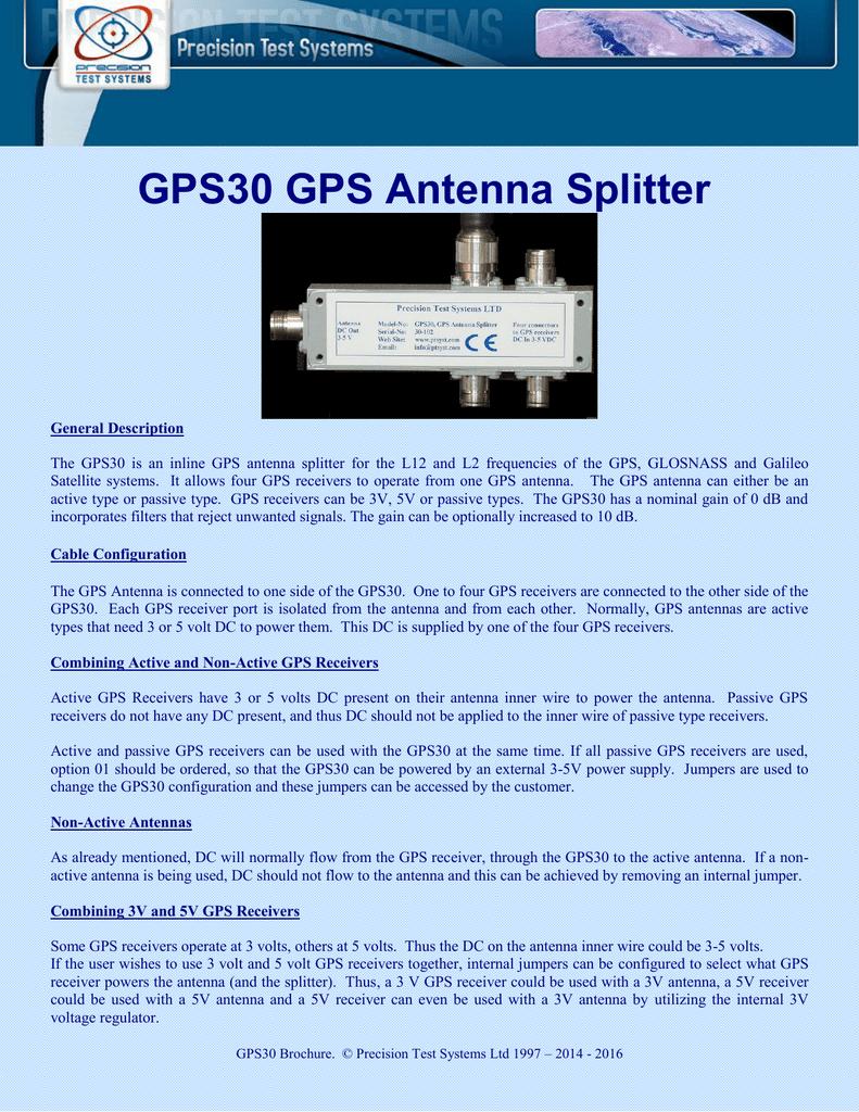 GPS30 GPS Antenna Splitter | manualzz com