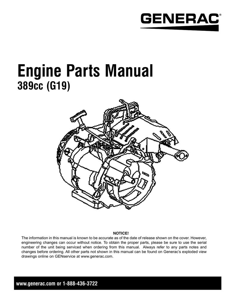 Engine Parts Manual 389cc (G19) | manualzz com
