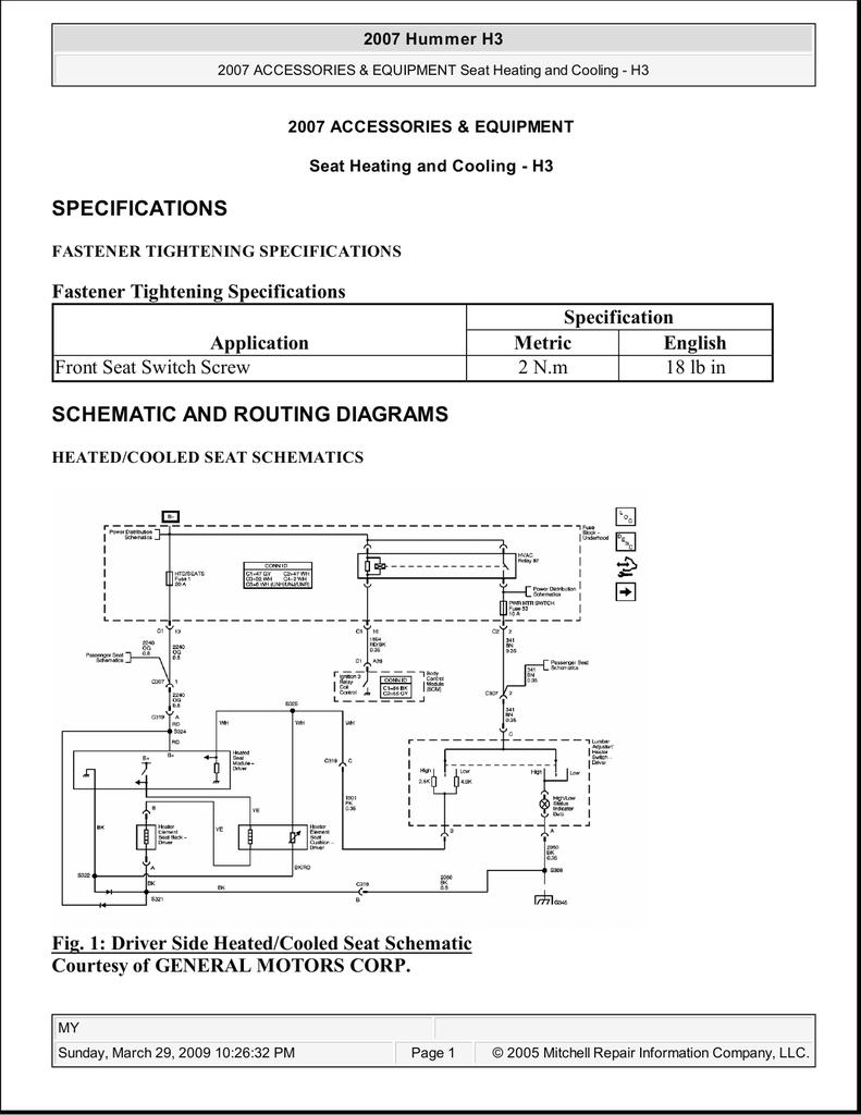 2009 hummer h3 engine diagram hummer h3     seat heating and cooling manualzz  hummer h3     seat heating and cooling