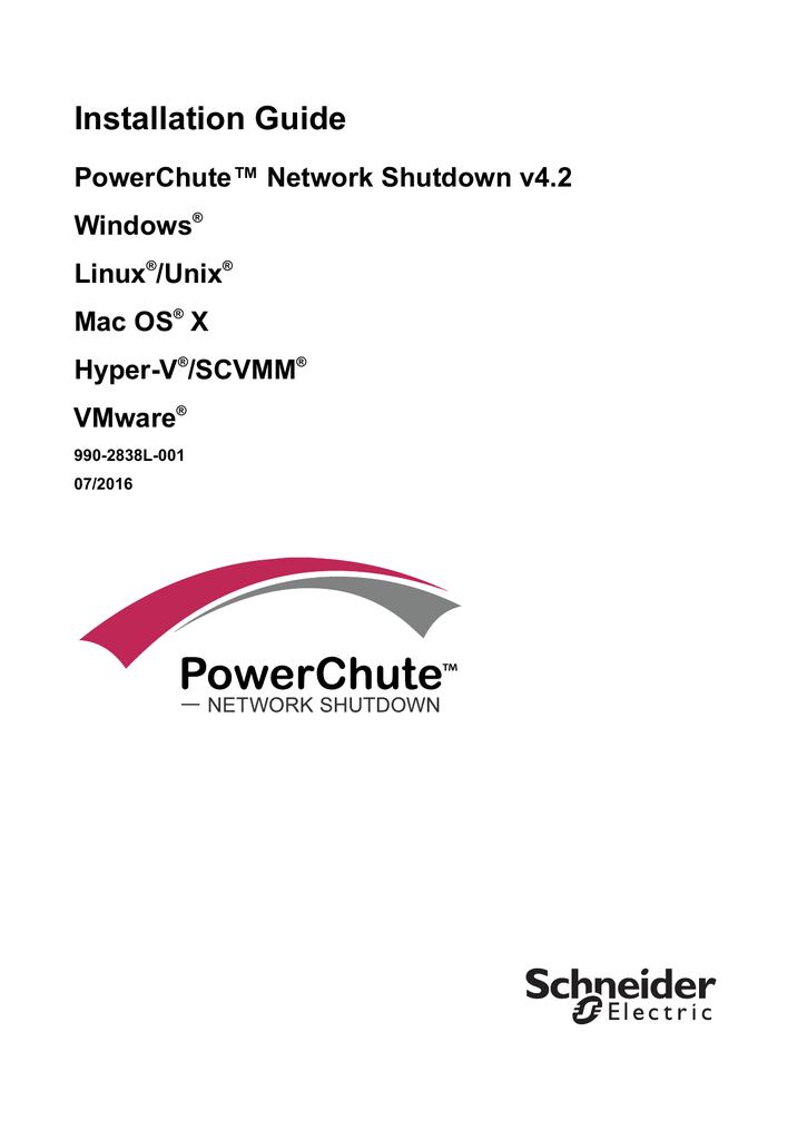 PowerChute Network Shutdown v4 2 Installation Guide | manualzz com