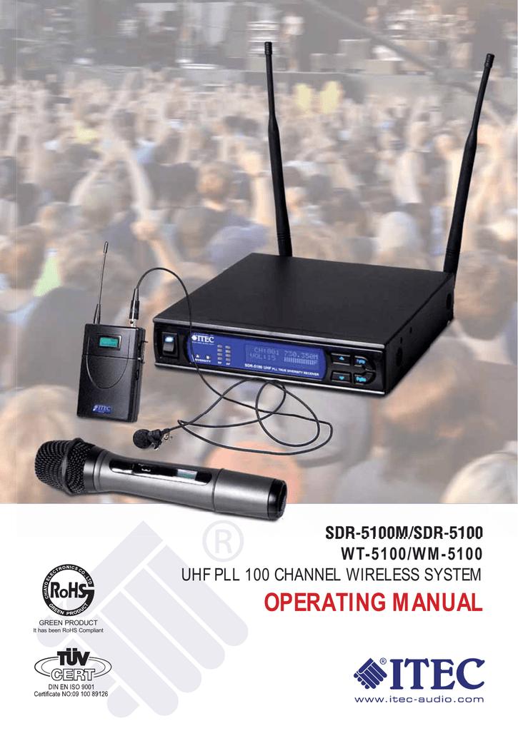 Itec SDR5100 Operating Instructions Manual