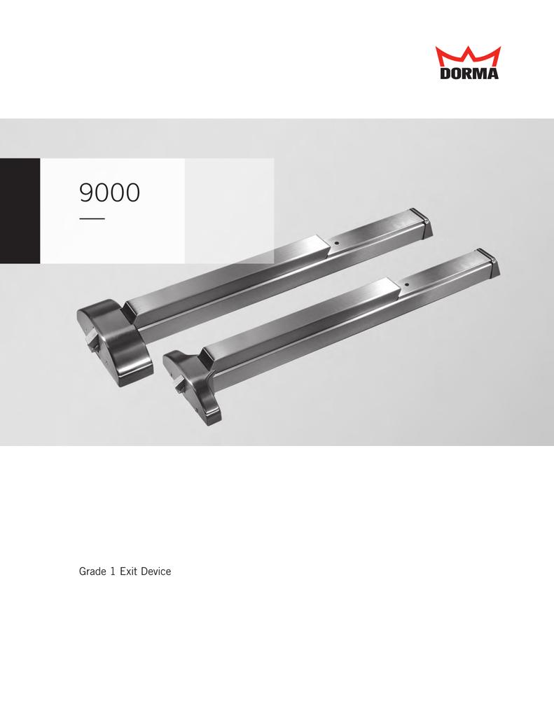 Satin Chrome Finish Fire Rated Heavy Duty Rim Push Bar Fits 37 to 48 Door Von Duprin 37 to 48 Wide Door Range