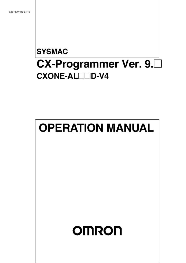 SYSMAC CX-Programmer Ver 9 _ Operation Manual   manualzz com
