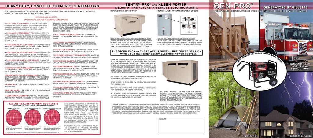GEN-PRO - Power Pros, Inc. | Manualzzmanualzz