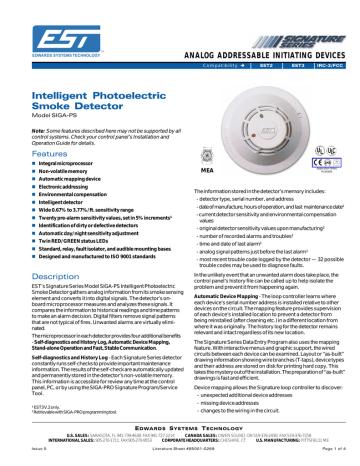 SIGA DETECTORS | SIGA-DH.pdf