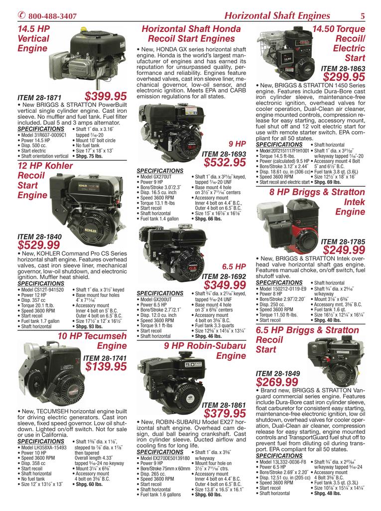 Horizontal Shaft Engines | manualzz com