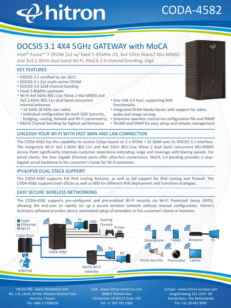 CODA-4582 - Hitron Technologies Americas Inc  | manualzz com