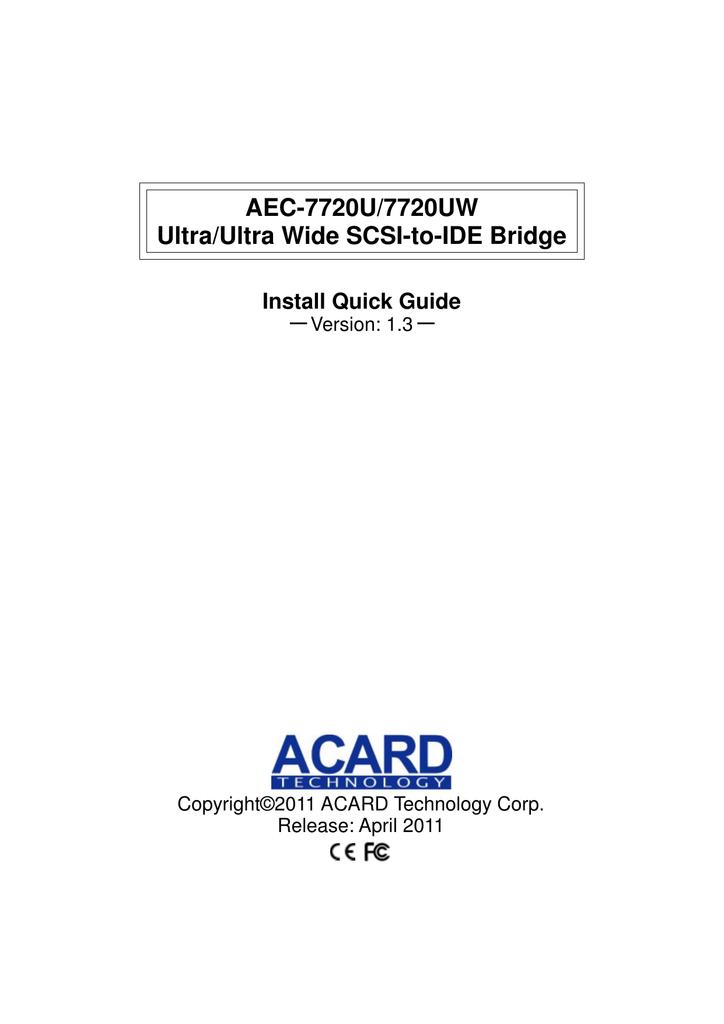 Acard AEC-6712U Drivers Download (2019)