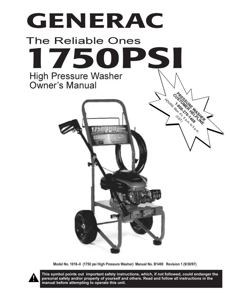 GENERAC - Ppe-pressure-washer | manualzz com