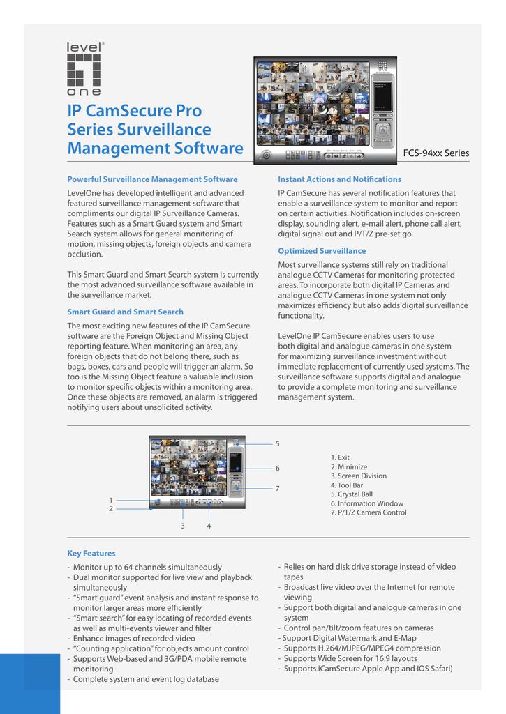 IP CamSecure Pro Series Surveillance Management Software   manualzz com