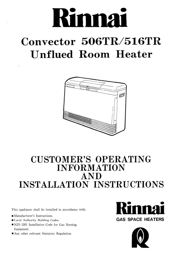 Rinnai 516tr manual.