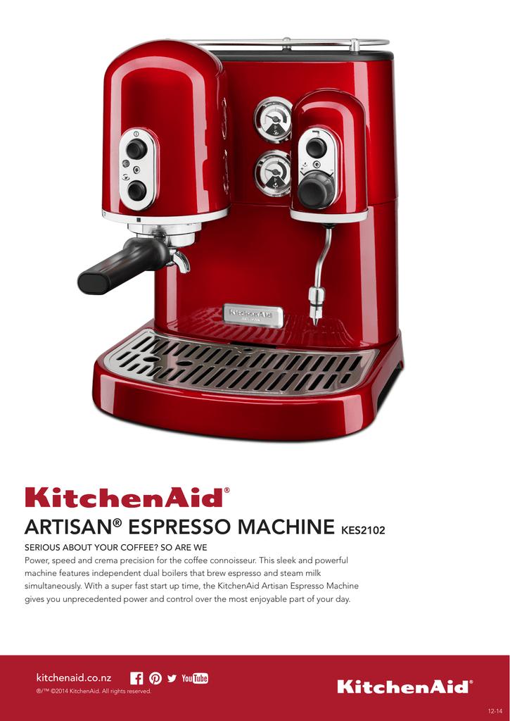 Artisan Espresso Machine Kes2102 Manualzzcom