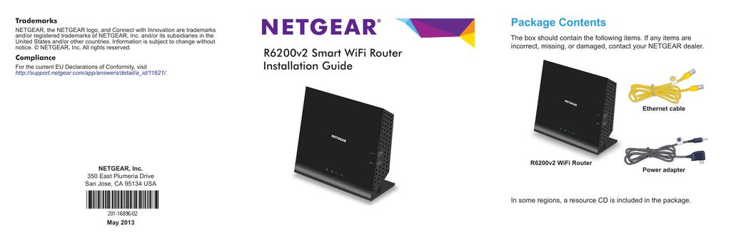 NETGEAR R6200v2 Smart WiFi Router Installation Guide