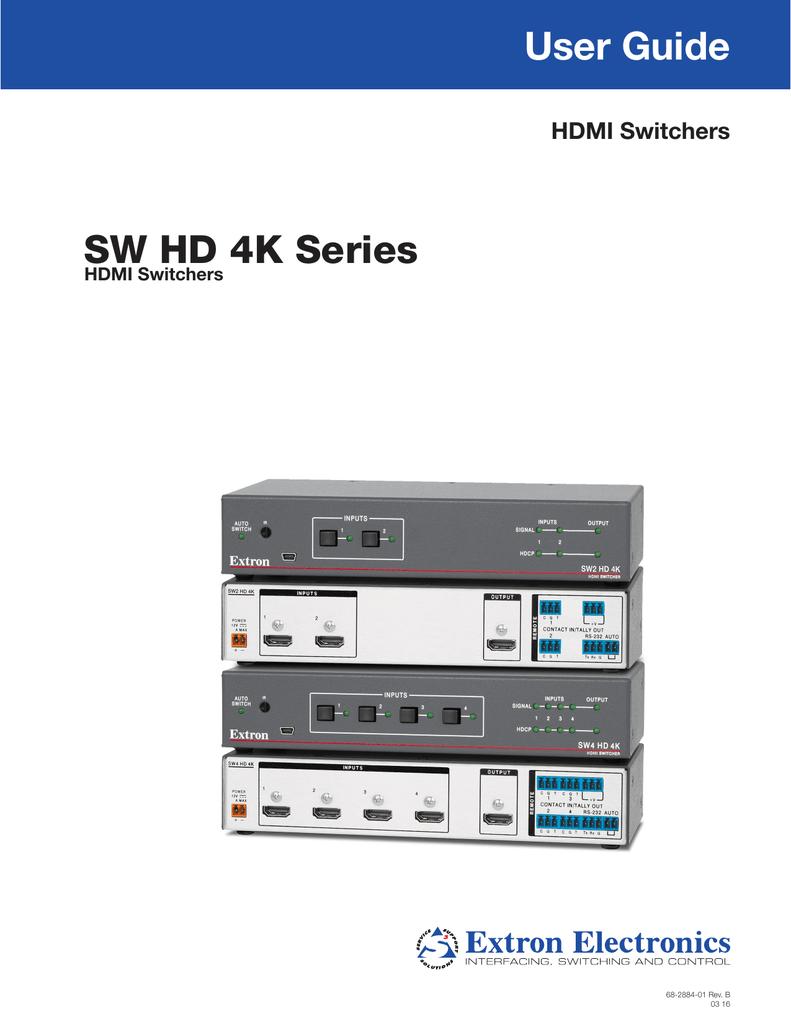 Extron SW HD 4K Series User Guide   manualzz com