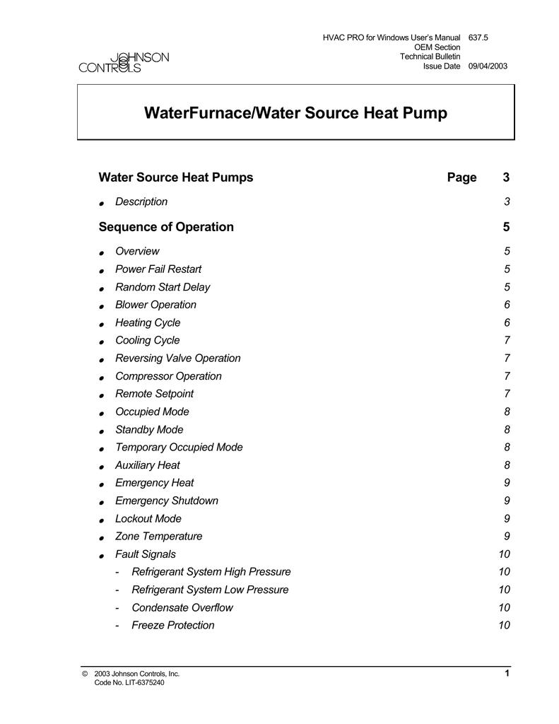 Waterfurnace Heat Pump Wiring Diagram Hvac on