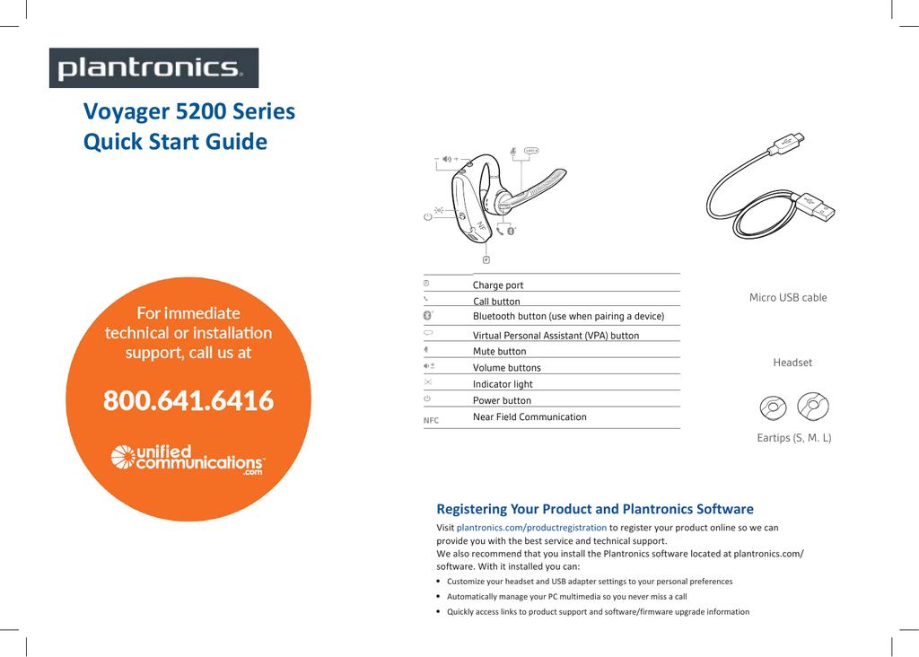 Voyager 5200 Series Quick Start Guide Manualzz