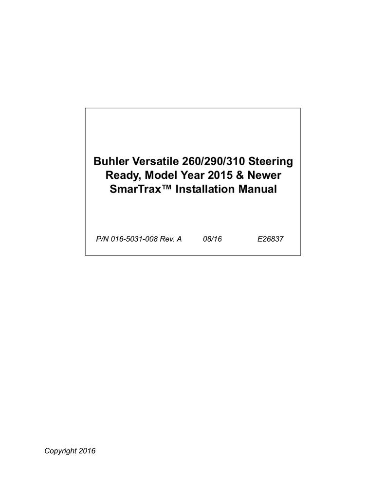 Buhler Versatile 260/290/310 Steering Ready, Model | manualzz.com on