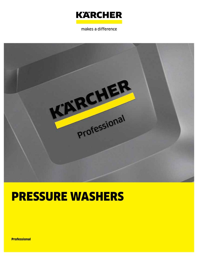 Karcher Professional Pressure Washers and Accessories   manualzz com