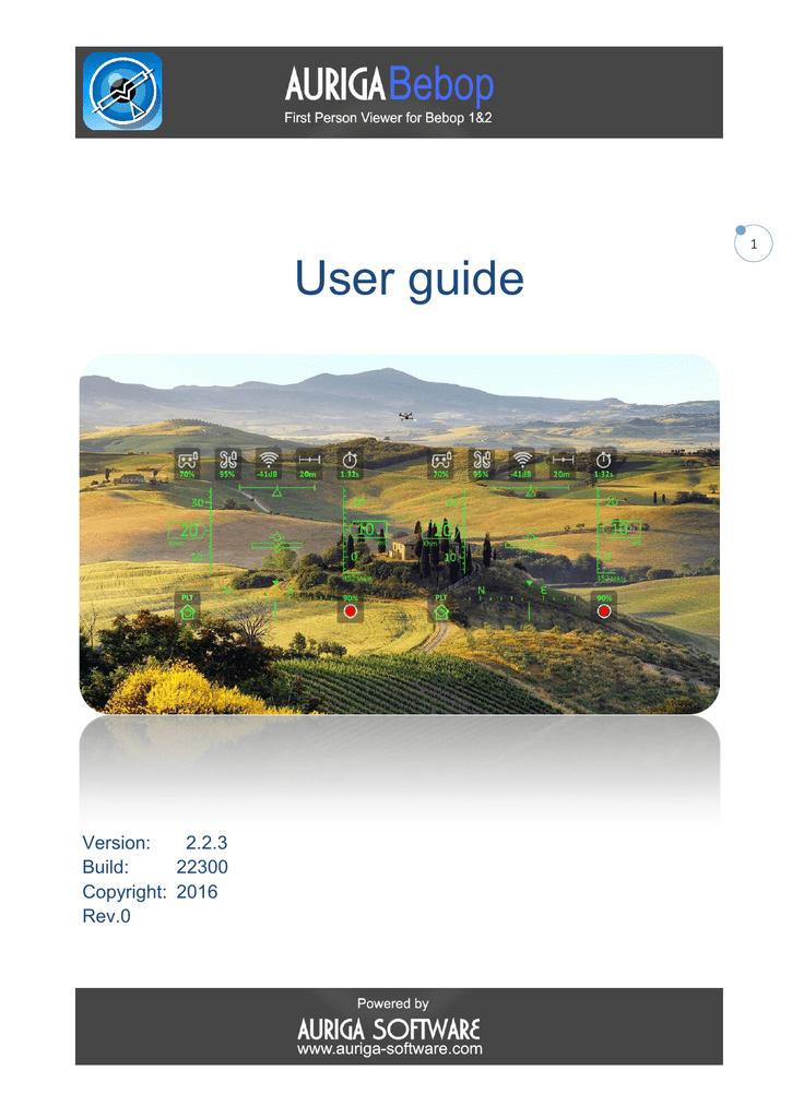 User guide - Auriga Bebop | manualzz com