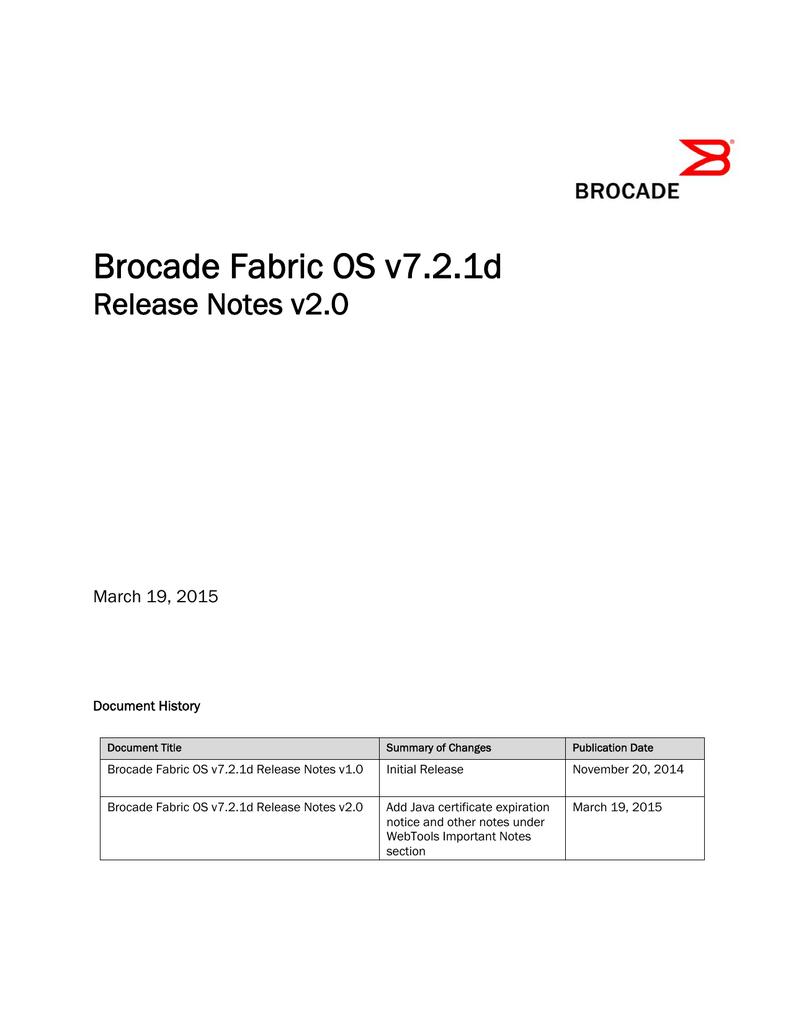 Brocade Fabric OS v7 2 1d | manualzz com
