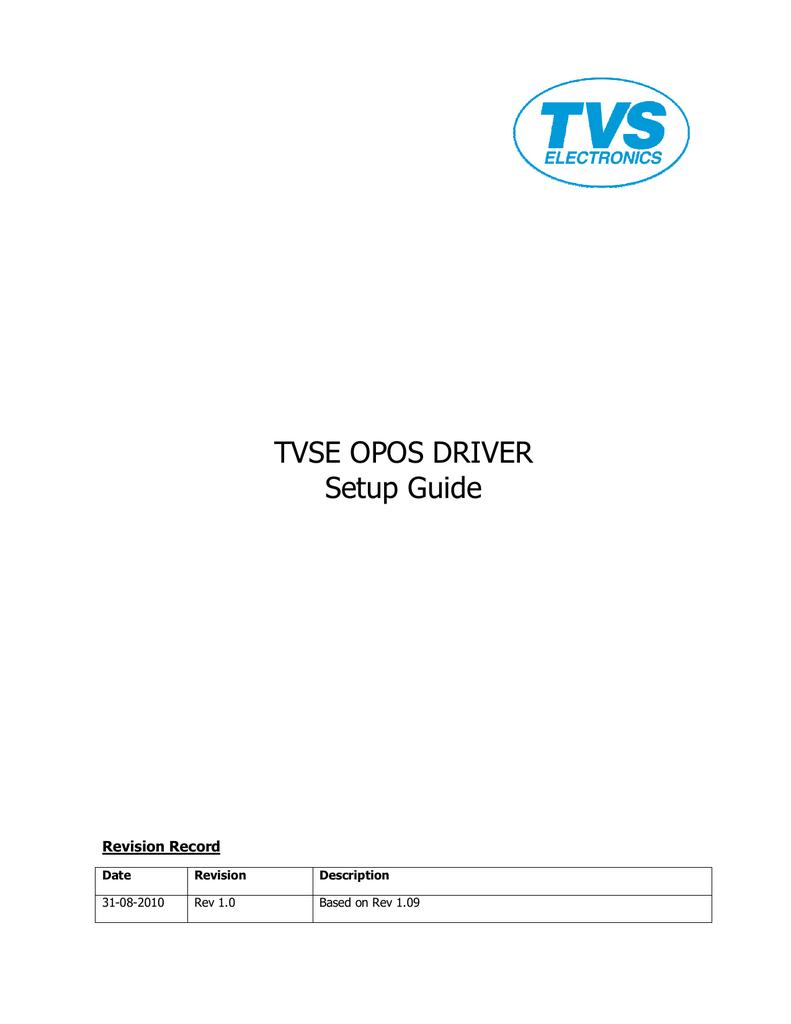 TVSE OPOS DRIVER Setup Guide | manualzz com