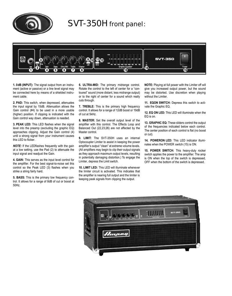 SVT-350H front panel   manualzz com
