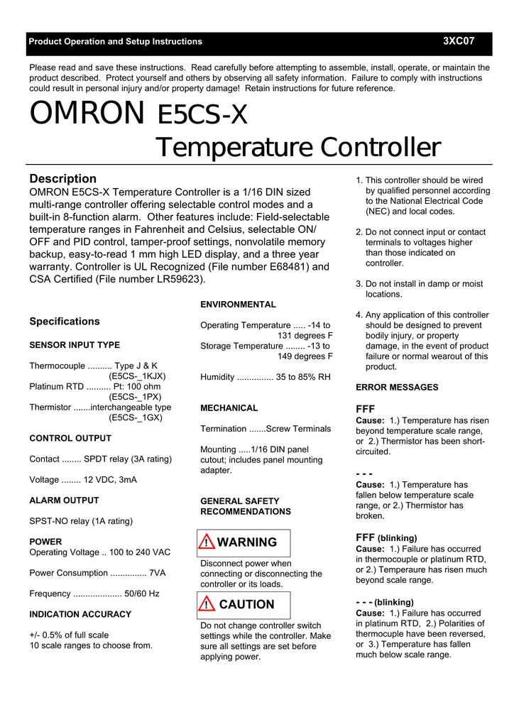 Automation, Motors & Drives OMRON E5CSVR1TF AC100-240 1/16 DIN ...